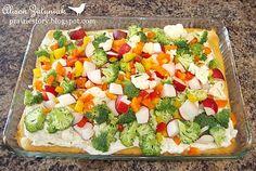 Veggie appetizer pizza, yum!