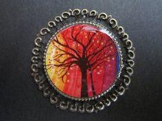 Magnet Rainbow Antique Bronze Round Art by TheVenusCollection, $5.99