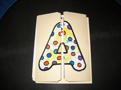"""Cover of a """"Letter A"""" Lapbook"""