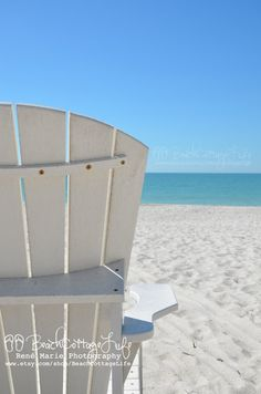 White Sand, Blue Water, Adirondack Beach Chair...