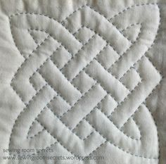celtic knot - hand quilted