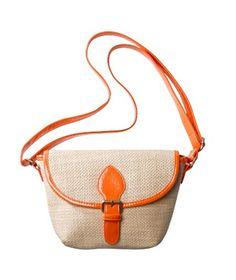 Xhilaration Orange Flap Crossbody Handbag