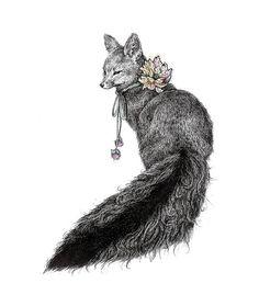 Fox illustration. #fox #zorro #ilustracion #illustration #drawing #dibujo #dessin