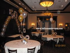 Room Decor for 50th Birthday party  #50#Balloons#Centerpieces#Birthday#Arch