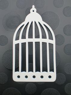 Die cut Bird Cage ( 10 ). £1.50, via Etsy.