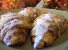 Fast Apple Turnovers- Made with crescent rolls. Delicious! I had to stop my husband after he ate 3 of these when I made them tonight. Make sure you dice the apples really small.