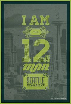 I Am The 12Th Man / Seattle Seahawks / Blue / Football Poster on Etsy, $35.00
