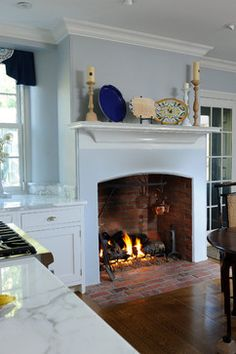 Kitchen Fireplace Design Ideas, Pictures, Remodel and Decor