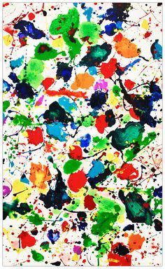 Sam Francis, Untitled (SF80-157) (1980), via Artsy.net. American artist Francis was initially influenced by the work of abstract expressionists such as Mark Rothko, Arshile Gorky and Clyfford Still. He later became loosely associated with a second generation of abstract expressionists, including Joan Mitchell and Helen Frankenthaler, who were increasingly interested in the expressive use of color.
