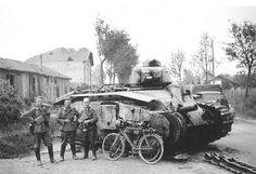 475 Char B-1  Knocked out French Char B-1 #worldwar2 #tanks