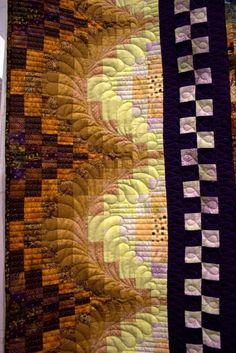 love the quilting, not what I would expect on a bargello