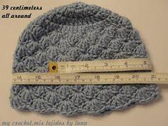 My Crochet , Mis Tejidos: Baby hat and tutorial / Gorro para bebe y tutorial