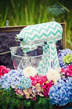 Custom KitchenAid Mixer as a Wedding gift!