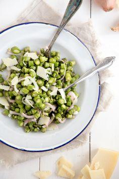 Jelly Toast: asparagus and shallot salad