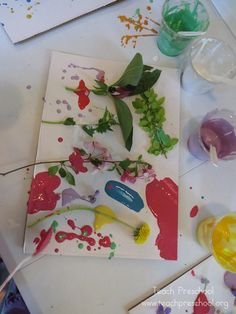 Drip-Drop Nature Painting