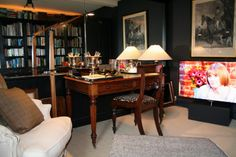 "The new Library sitting room in the Cavalier Suite,complete with 46"" TV"
