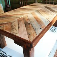 Hometalk :: Here's a coffee table I built using wood from a pallet. I stained the…