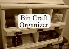 homeroad: Bin Craft Organizer
