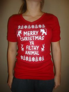 Merry Christmas Ya Filthy Animal $20.00, via Etsy.