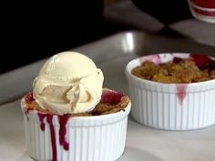 Peach and Blueberry Crumbles Recipe : Ina Garten : Food Network