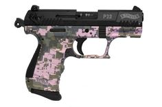 Walther P22. Pink Digital camo. WANT.