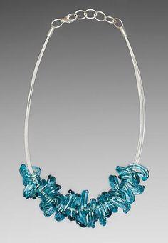 art glass necklace