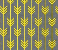 Yellow arrow fabric by Holli Zollinger