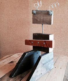 creative reuse workshop for kids  - #scrap #wood #robots