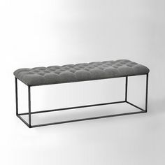 Tufted Bench - Stone Wash Granite | west elm