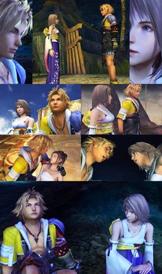 FF Meme: Seven Relationships --> Yuna and Tidus