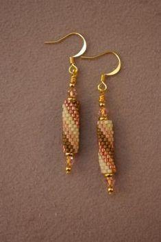 Spiral Peyote Tube Earrings Free Beading Pattern