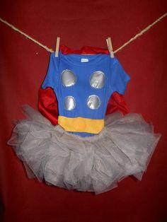 Thor inspired comic superhero Toddler Tutu by CookiesOwlsSunshine, $19.50