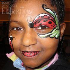 Ladybug Face Paint ... Lieveheersbeestje schmink