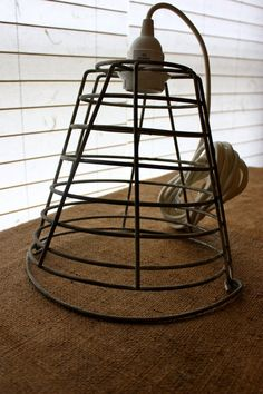 Light fixtures ~ repurposed golf bucket.