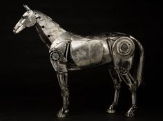 Steampunk Sculpture Horse Stand by Andrew Chase steampunk anim, steampunk sculptur, hors statu, fascin steampunk, art, andrew chase, sculptur hors, hors feather, hors stand