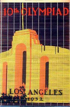Original vintage 1932 Los Angeles Stadium poster