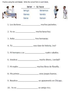 tener expressions on pinterest spanish spanish lessons and worksheets. Black Bedroom Furniture Sets. Home Design Ideas