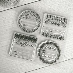 Plantilla sellos, etiquetas confitura