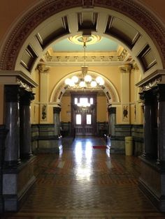 Inside the Miami County Courthouse in Troy, Ohio.