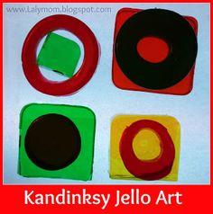 Kandinsky Jello Art from Lalymom