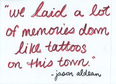 song, lyric, tattoos, a tattoo, memories, quot, countri, jason aldean, country