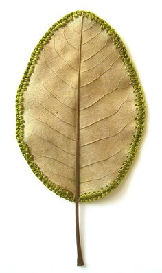 crocheted leaf ...