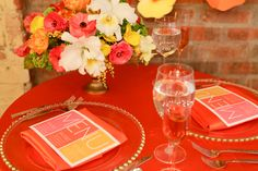 Autumnal Orange Party Inspiration by Dooby Design via Somewhere Splendid. Photos by Alli McWhinney Photography.
