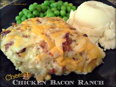 Cheesy Chicken Bacon Ranch  4 Tbsp butter (melted) 1 cup parmesan cheese 1/2 dry ranch packet 4-5 large chicken breasts bacon bits grated cheese (I use cheddar & monterey jack)