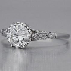 Vintage Edwardian Engagement Ring  - Vintage Edwardian Style Engagement Rings Gallery