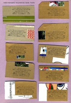 business cards...or postcards...