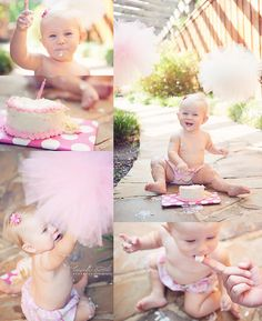 Smash cake!! I'm so going to do this with Isabel in September - a beautiful and fun way to create first birthday memories :)