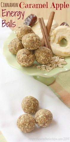 Healthy Snacks for Kids: Cinnamon Caramel Apple Energy Balls