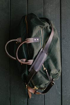 Waxed Canvas Overnight Bag by Ernest Alexander ★
