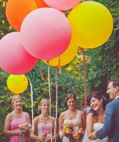 idea, giant balloon, dream, color, bridesmaid, inspir, balloons, flower, parti